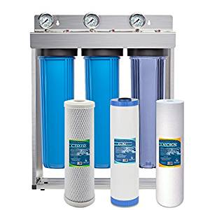 Express Water Whole House GAC Carbon Sediment 3 Stage Water Filter System