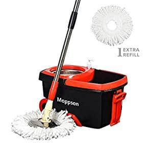 Moppson Stainless Steel Spin Mop
