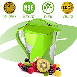 Pure Green Premium Alkaline Water Filter Pitcher