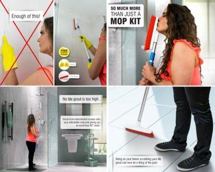 Temples Pride Professional 18″ Microfiber flat mop kit