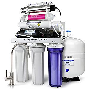 iSpring RCC1UP-AK Water Filtration System with Booster Pump