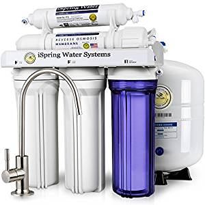 iSpring RCC7 High Capacity 5-Stage Reverse Osmosis Drinking Water Filtration System