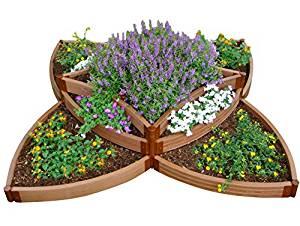 Frame It All FBPS9 One Inch Series Composite Versailles Sunburst Raised Garden Bed Kit