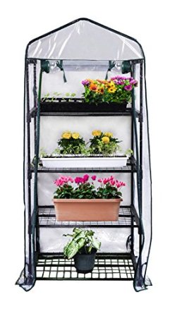 Gardman R687 4-Tier Mini Greenhouse, 27 Long x 18 Wide x 63 High