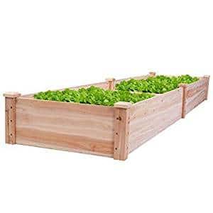 Giantex Wooden Raised Vegetable Garden Bed Elevated Planter Kit