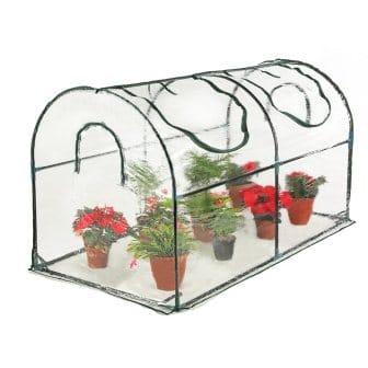 Seven colors house Reinforced Portable Mini Greenhouse 35.4x70.8x39 Vegetable Plant Mini Arc Greenhouse