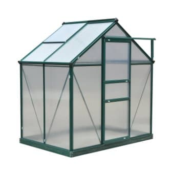 Outsunny 6′ x 4′ x 7′ Twin Wall Polycarbonate Walk-in Garden Greenhouse