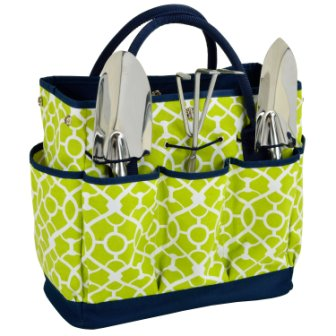 Picnic at Ascot Trellis Garden Tote with Tools