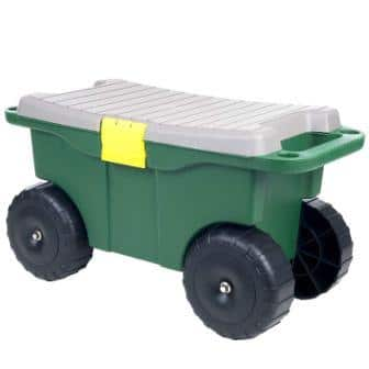 Pure Garden 75-MJ2011 20 Plastic Garden Storage Cart & Scooter