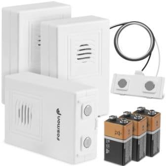 Water Leak Detector – 3 Pack, Fosmon Wireless [72 Hours Alarm Low Battery Alert]
