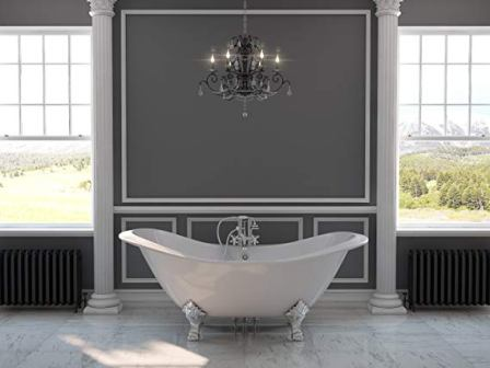 Cast Iron Double Ended Slipper Tub 71″ from The Tub Connection