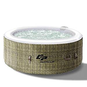 Goplus Inflatable Hot Tub for Portable Jets Bubble Massage