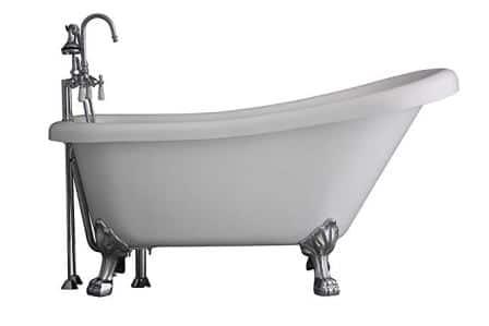 Hotel Collection HLSL57FPK Heavy Duty CoreAcryl Clawfoot Bath Tub 57″