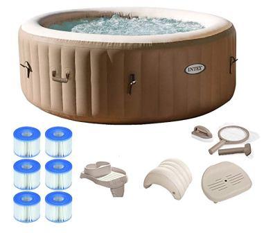 Intex Portable Hot Tub Ultimate Bundle