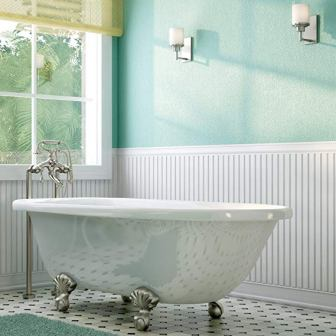 Luxury 60-inch Clawfoot Tub from The Laughlin Collection