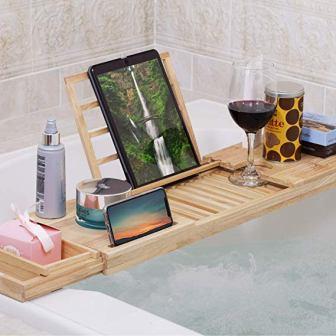 Momoni Premium Luxury Wood Bathtub Tray