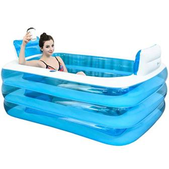 PP Bath Tub XL Blue Color Inflatable Bathtub