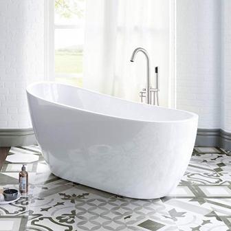 "Woodbridge 54"" Acrylic Freestanding Bathtub B-0006/BTA1507 with Overflow and Drain"