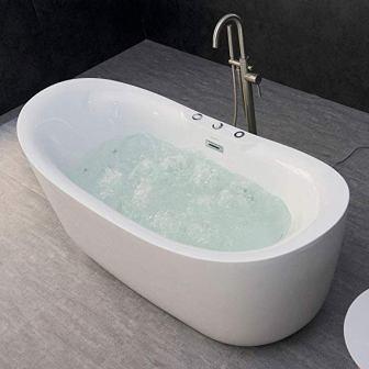 Woodbridge Whirlpool and Air Bubble Freestanding Bathtub B-0034
