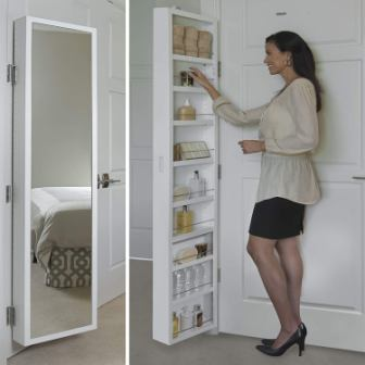 Cabidor Deluxe Mirrored Behind The Door Medicine Storage Cabinet