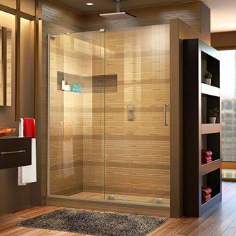DreamLine Mirage-X Frameless Sliding Shower Door (Glass, Brushed Nickel Finish)