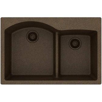 Elkay Quartz Classic ELGH3322RMC0 60/40 Double Bowl Sink