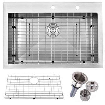 Firebird Single Bowl 18 Gauge Stainless Steel Drop-In Kitchen Sink