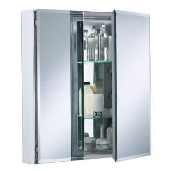 KOHLER K-CB-CLC2526FS 25 x 26 inch Frameless Aluminum Bathroom Medicine Cabinet