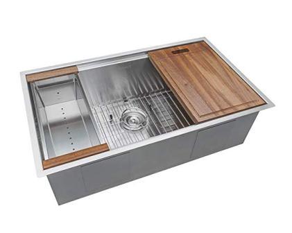 Ruvati 32-inch Workstation Ledge 16 Gauge Stainless Steel Kitchen Sink