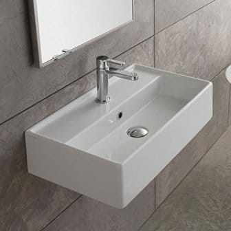 Scarabeo 5001-One Hole Teorema Vessel Sink