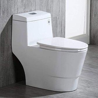 WoodBridge T-0001, Dual Flush Elongated One Piece Toilet (Top Pick)
