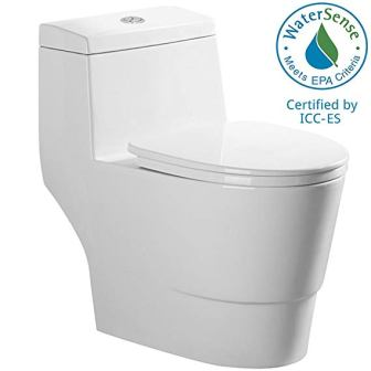 WoodBridge T-0001 One-Piece Elongated Toilet