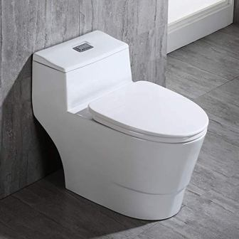 WoodBridge T-0018/B-0735 Dual Flush Elongated Toilet