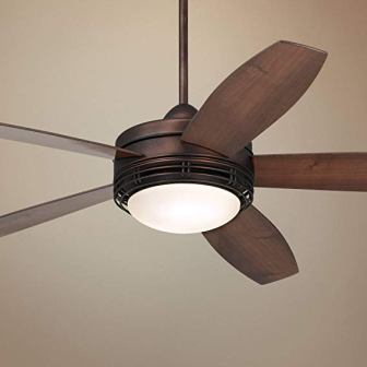 "60"" Casa Province LED Bronze Outdoor Ceiling Fan"