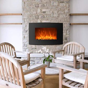 BestMassage Electric Fireplace Heater