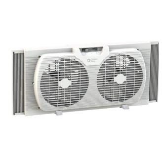 Comfort Zone 9-inch Twin Window Fan