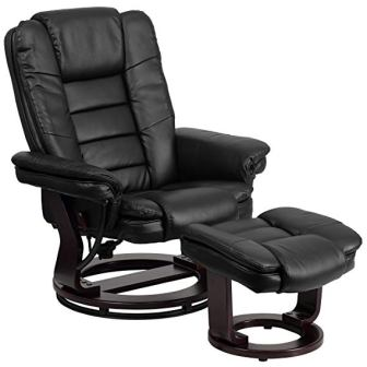 Flash Furniture BT-7818-BK-GG Contemporary Black Leather Recliner