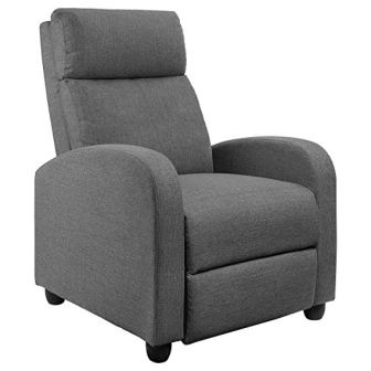 JUMMICO Fabric Recliner Sofa