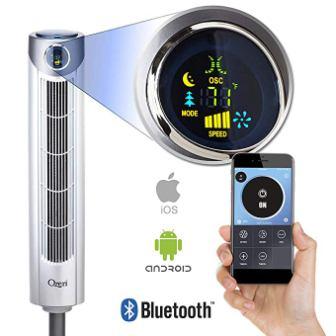Ventilateur tour Bluetooth ultra oscillant Ozeri
