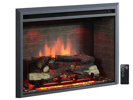 PuraFlame 33 Inches Electric Fireplace
