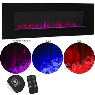 XtremepowerUS Allure Wall Mount Electric Fireplace