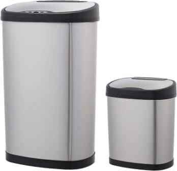 Amazon Basics Automatic Trash Can Set