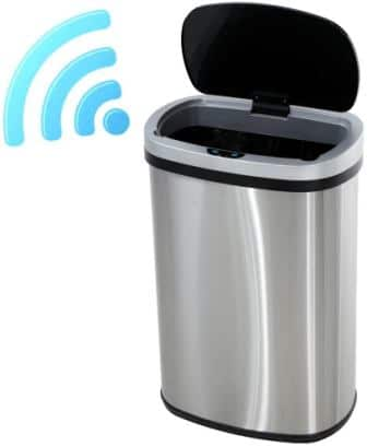 Bigacc's 13 Gallon Automatic Stainless-Steel Trash Can