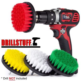 Drillstuff Drill Brush Attachment Power Scrubber Brush Set