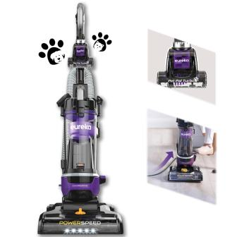 Eureka Bagless Upright Vacuum Cleaner, Automatic Cord Rewind with Pet Tool, Neu202