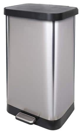 GLAD Stainless Steel Step Trash Can