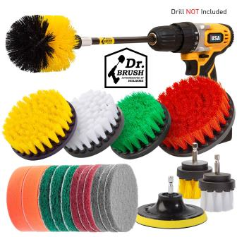 Holikme 20 Piece Drill Brush Attachments Set