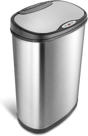 Nine Stars Stainless Steel Motion Sensor Trash Can