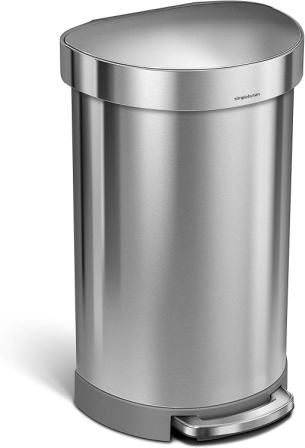 Simplehuman, 45 l semi-circular garbage can