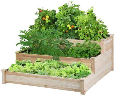 Yaheetech 3 Tier Wooden Raised Garden Bed Planter Box Kit